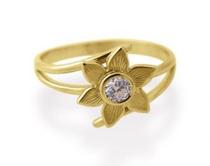 sunflower diamond ring 1