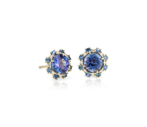 Blue Nile, Tanzanite Stud Earrings