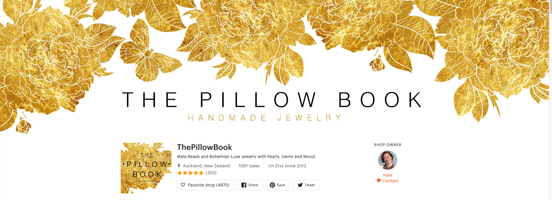 the pillow book- asian style jewelry shop on etsy