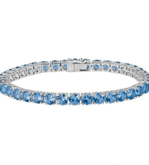 Helzberg, Tanzanite Bracelet in Sterling Silver