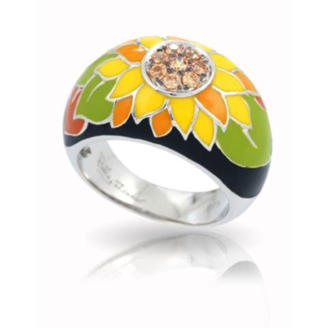 belleetoile, sunflower ring