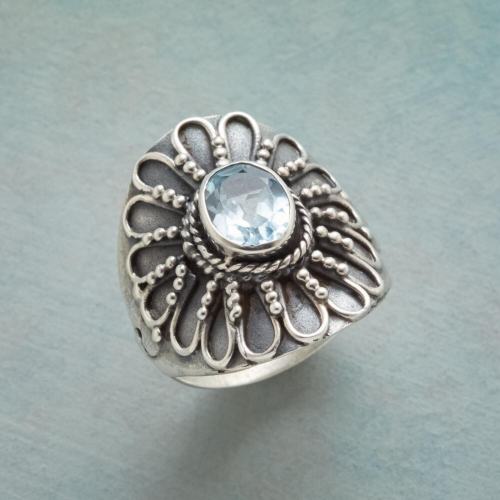 Sundance, Blue Sunflower Ring