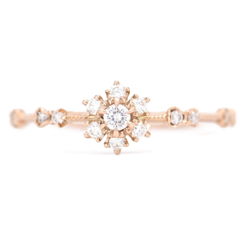 Kataoka Jewelry, Diamond Sunflower Ring ($2,980)