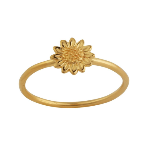 Delicate Sunflower Ring Gold