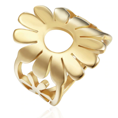 BAOLAISI Circle Sunflower Rings