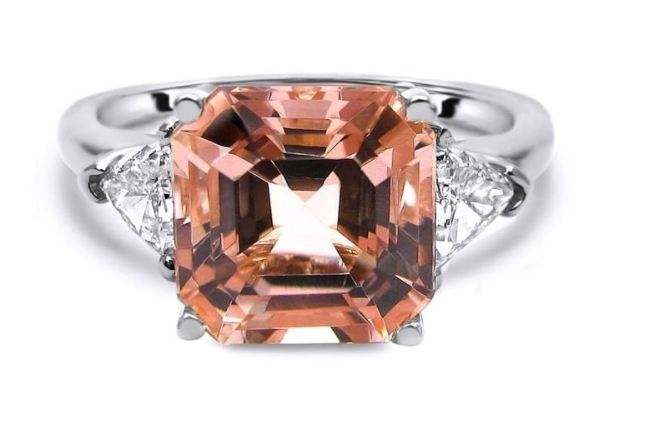 Front Jewelers, Asscher Cut Morganite Ring