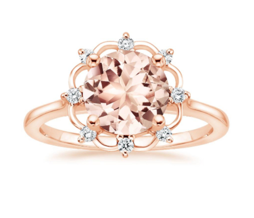 Brilliant Earth, Morganite Chantilly Diamond Ring