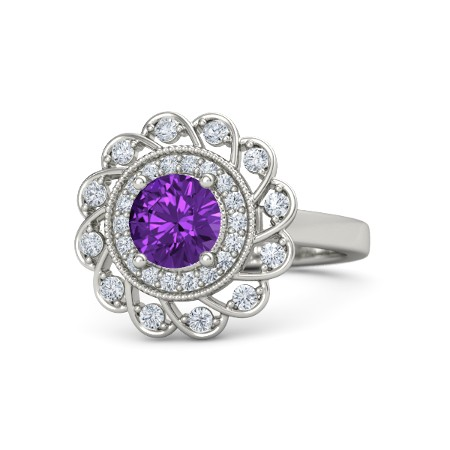 Gemvara, Round Cut Sunflower Ring ($2,220)